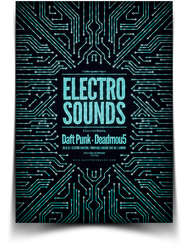 Electro Flyer Poster on Behance – Electro Flyer