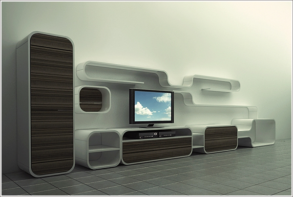 Lcd tv stand unit on behance - Tv unit designs for lcd tv ...