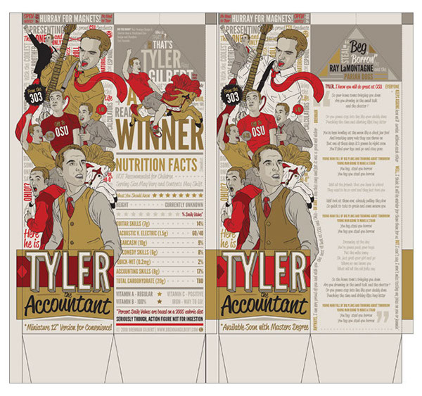Action Figure Packaging Tyler the Accountant Custom toy carton cool Magical accounting wacom tablet