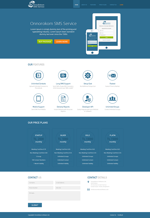 SMS Service Template on Behance
