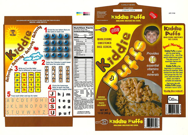 School projects on behance for Cereal box project for school