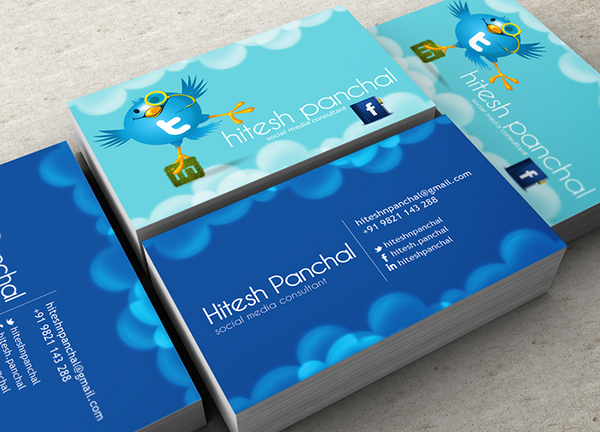 Social media consultant business card on behance colourmoves