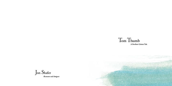 tom thumb wolf fairy tale watercolor ink childrens book