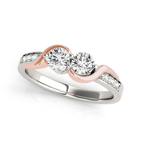 Two Stone Ring 2 Stone Diamond Engagement Rings On Behance