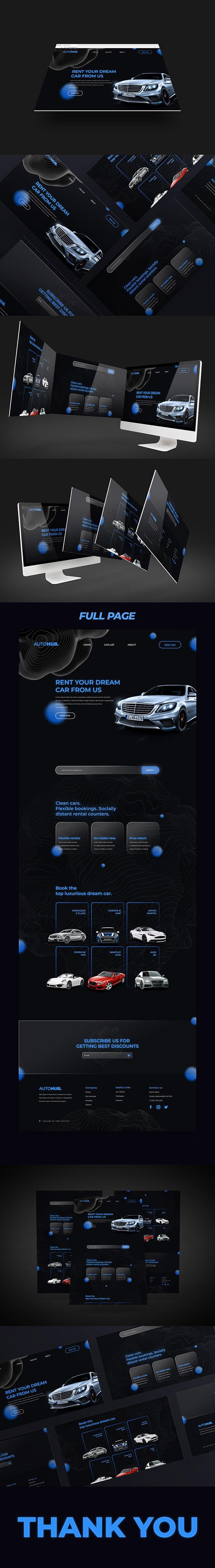 AUTOHUB - Website Design