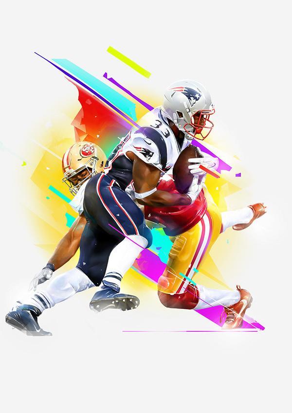 The 2020 NFL Season Illustrations