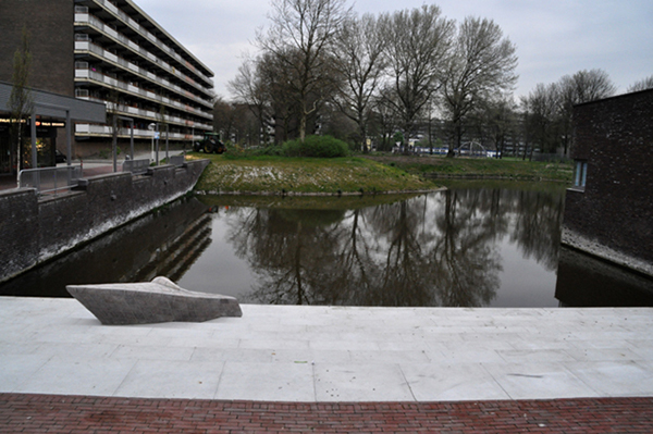 Zagara,sculpture,commissioned art,public art,Granito,zoetermeer,Context related art