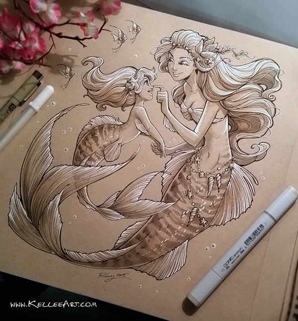 Traditional Mermaid Drawings On Behance