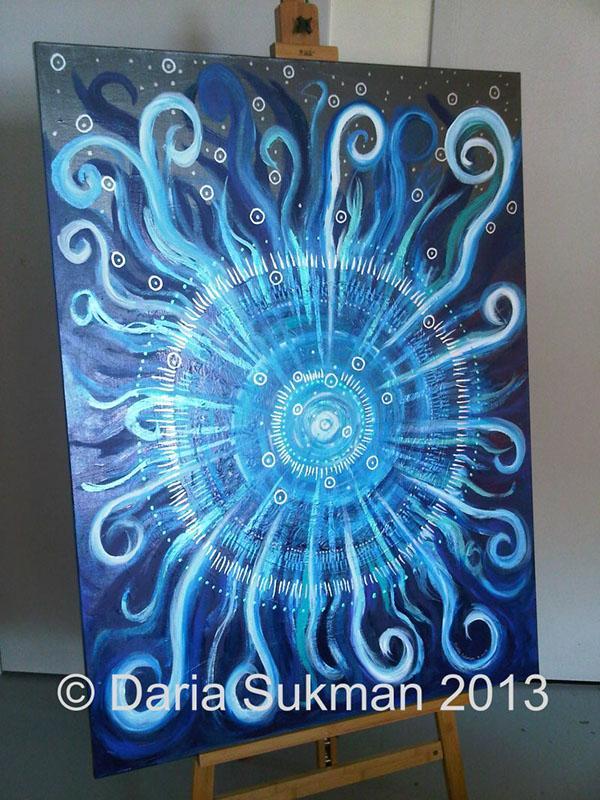 stylized energy Mandala Metallics