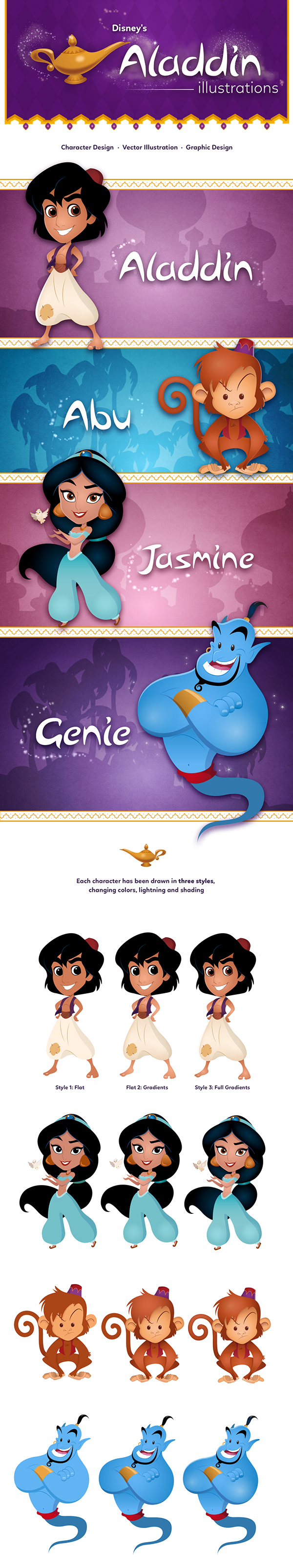 Disney's Aladdin Vector Illustrations on Behance