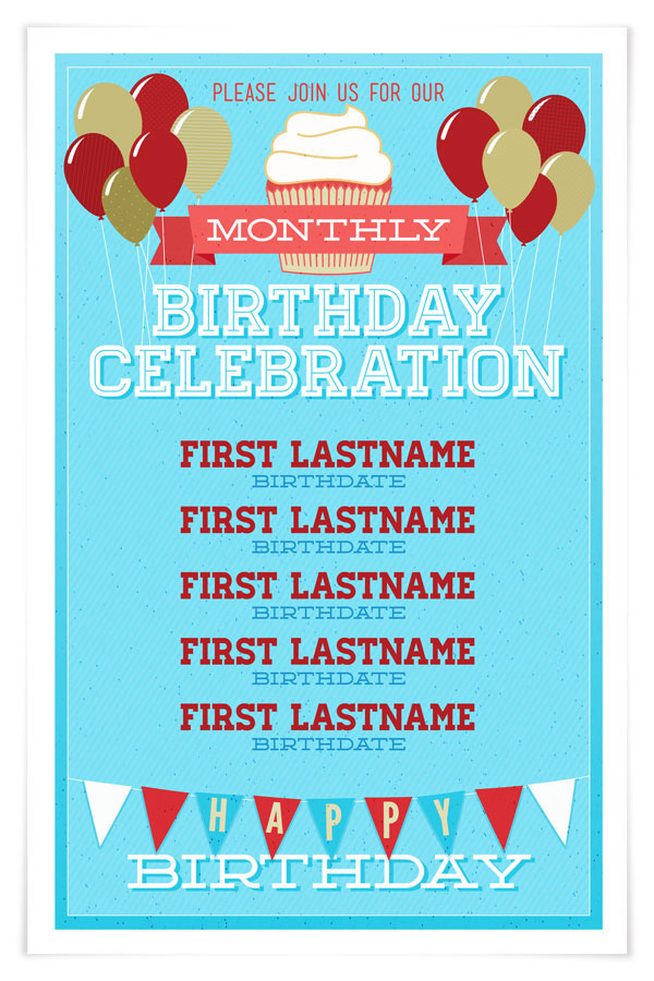monthly birthday celebration on behance