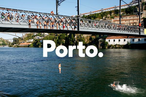 porto blue identity Portugal grid pictogram Icon city city hall modular dot tiles