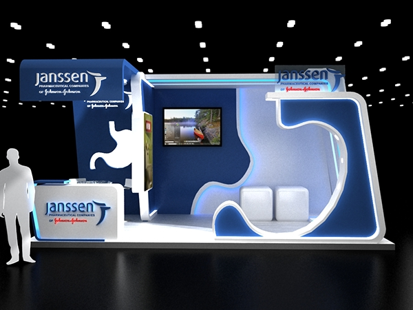 Exhibition Stand Designer Job Description : Janssen booth on behance