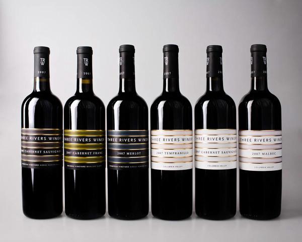 Happy Hour: flat design | Eye on Design |Wine Bottle Graphic Design