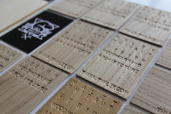 Wooden business cards on behance colourmoves