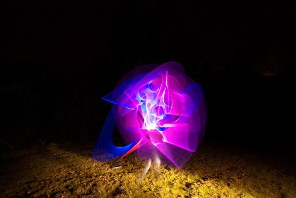 nigth light Forms long exposure