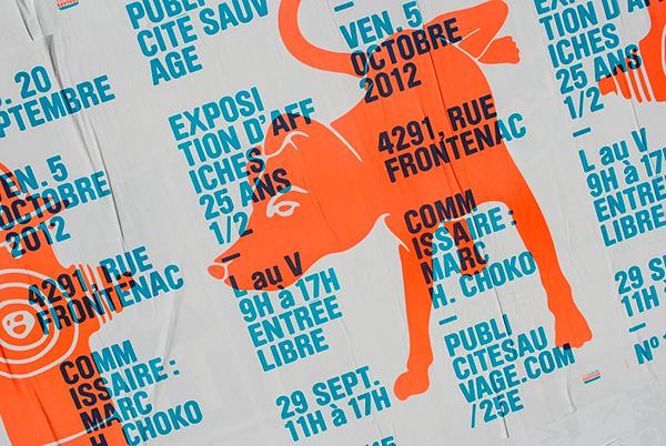 Publicité sauvage 25th anniversary posters on behance