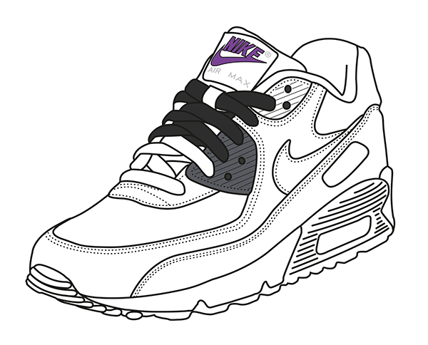 the latest a020c 8cfa6 Air Max 90 infrared vector by FYSH for formatmag  fysh  fyshclothing