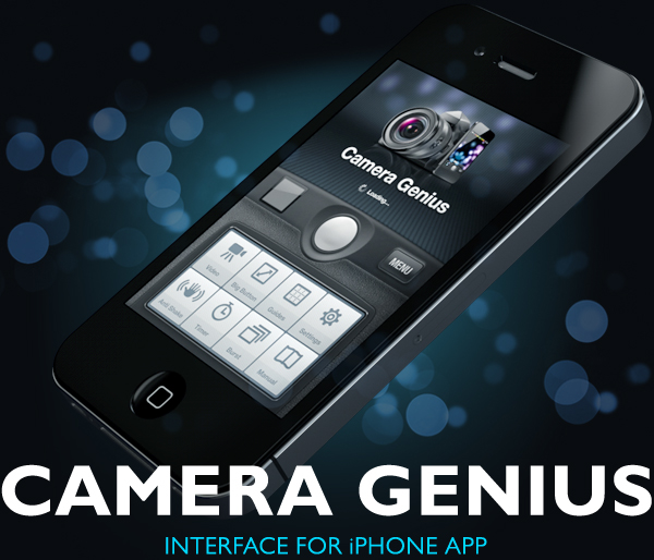 camera genius app interface on behance