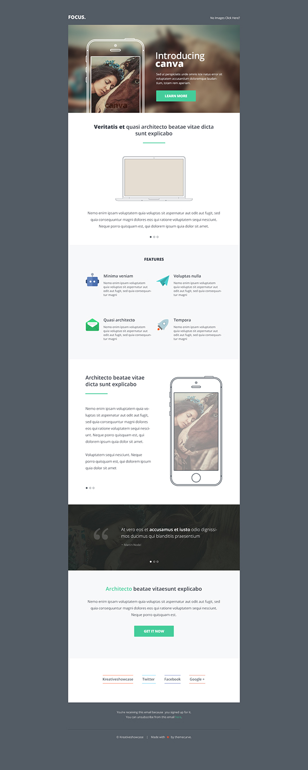 canva clean creative Email email template freebie freebies newsletter psd