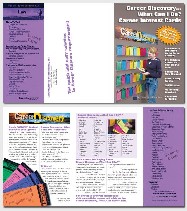 six panel brochure project