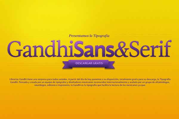 gandhi type books letters yellow