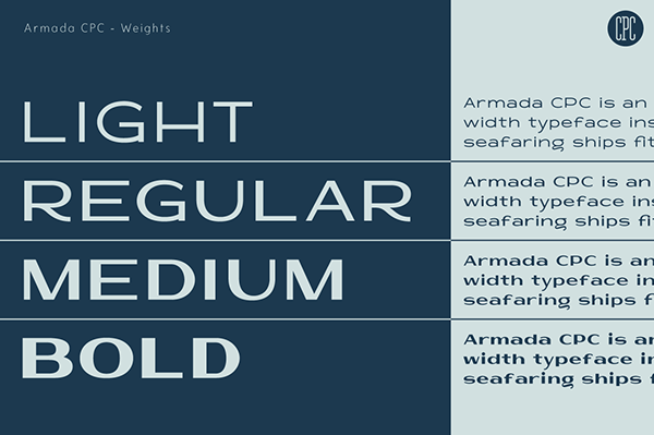 Armada CPC - Font Weights