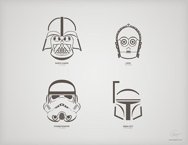 star wars characters truetype font helmets on behance