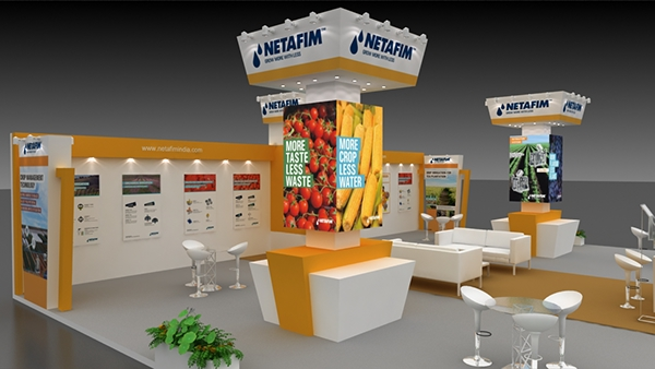 Exhibition Stall On Behance : Netafim stall design on behance
