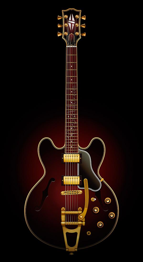 electric guitar rock blues jazz