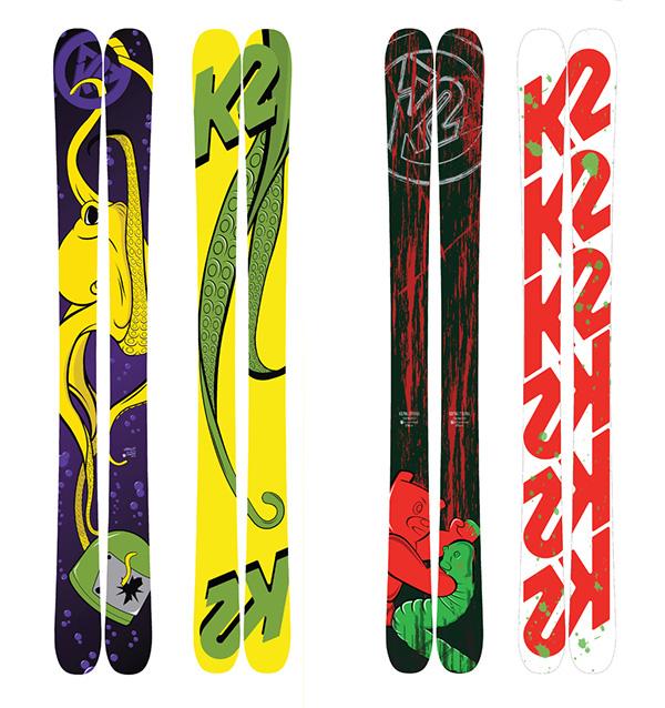 k2 skis on behance