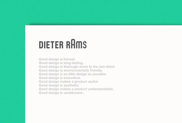 poster Dieter Rams series print braun
