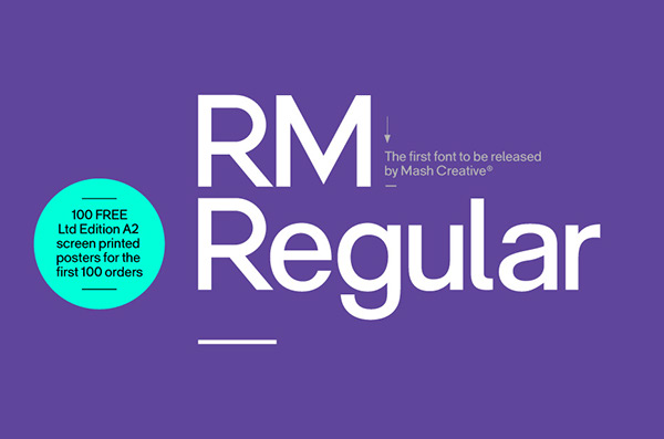 RM Regular Font on Behance