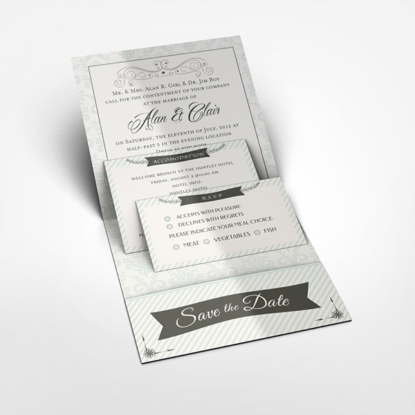 Pocket wedding invitation mock up on behance stopboris Image collections