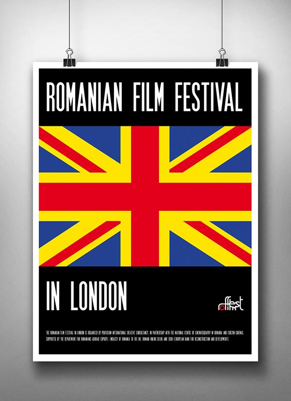 Romanian Film Festival In London - Poster on Behance