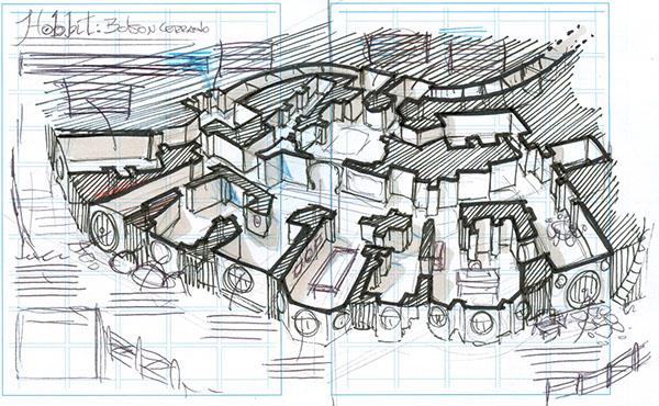 Bag end the hobbit house on behance - Great hobbit home designs ...