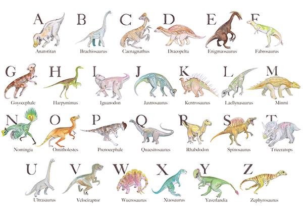 Dinosaur Alphabet On Behance