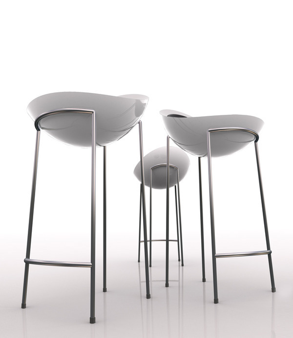 Bad egg cafe and bar stools on behance for Industrial design bar stools