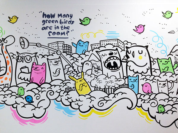 Leeds general infirmary mural on behance for Thank you mural