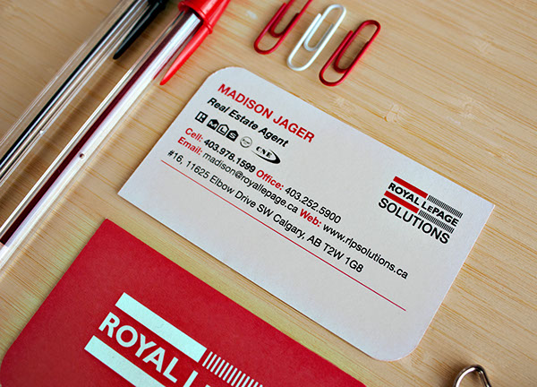 Madison jager royal lepage business cards on behance thank you reheart Images