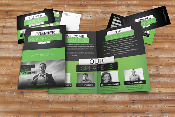 premier conference brochure package on behance