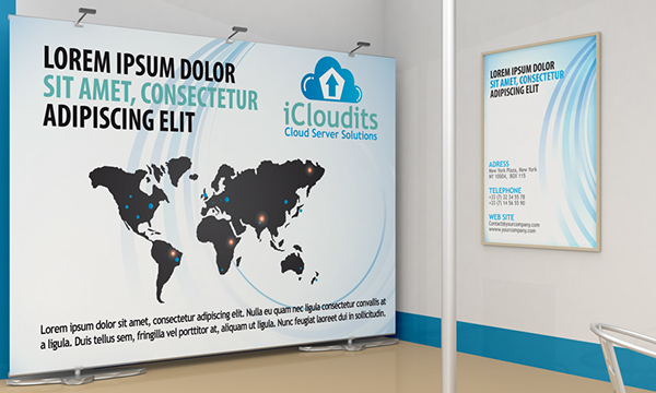 Exhibition Stand Poster Design : Exhibition stand design mockup on behance