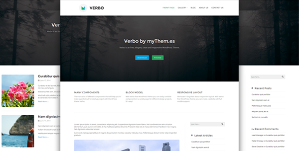Verbo - free clean and responsive WordPress Theme on Behance
