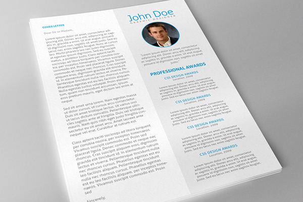 clean and modern resume template for adobe indesign cs 4 or later new - Adobe Resume Template