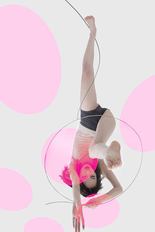polka dot pink circle