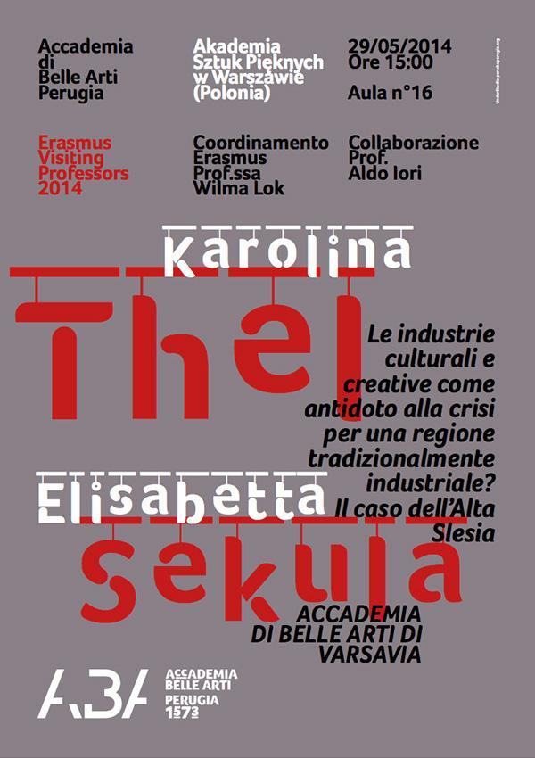 poster Accademia Belle Arti perugia Bruno Ceccobelli Francesco Mazzenga Accademia di Varsavia Aldo Iori Lucilla Ragni Antonella Pesola
