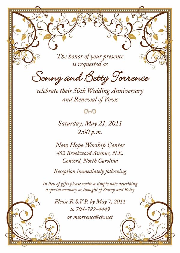 50th wedding anniversary photo invitations