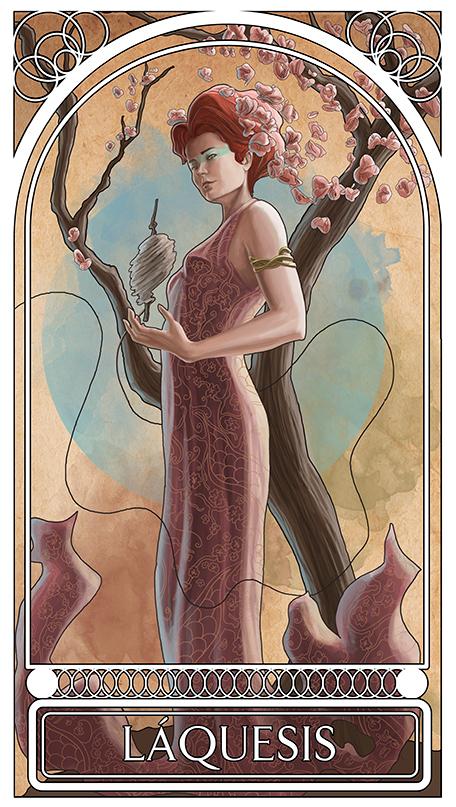 малюсенькую картинка богини атропос темы