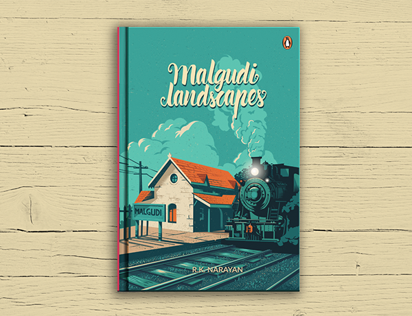 Landscape Book Cover Design ~ Malgudi landscapes book cover on behance