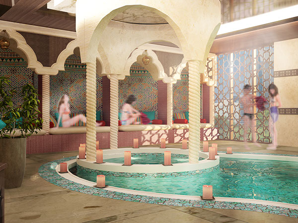 Indoor pool for a hotel dubai uae on behance for Pool design dubai